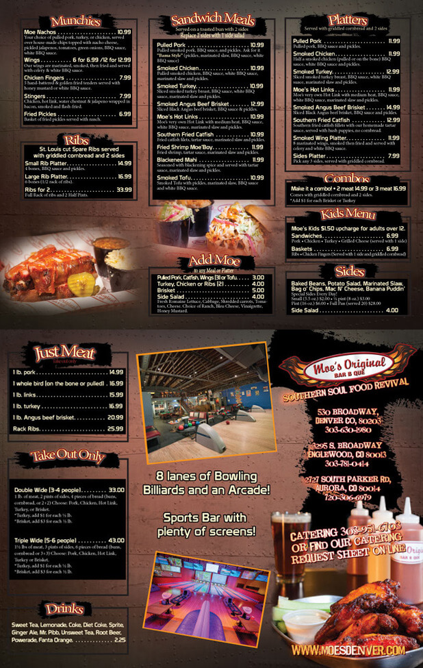 BBQ Restaurant Englewood, CO   Moe's Original Bar B Que